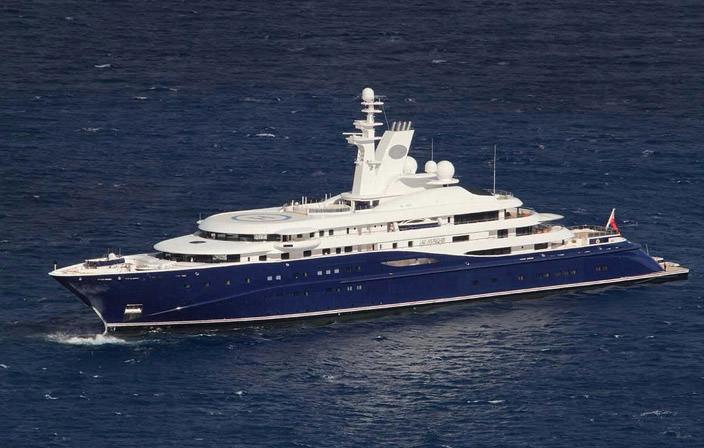 Самая дорогая яхта в мире #8 Al Mirqab. Цена $260 млн.