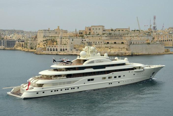 Самая дорогая яхта в мире #9 Dilbar. Цена $256 млн