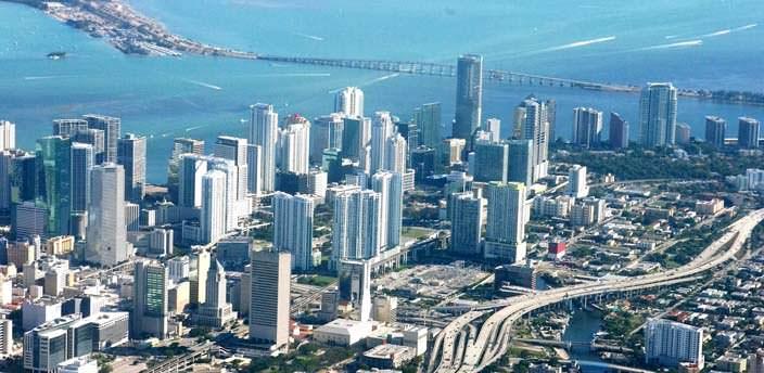 Майами с высоты птичьего полета