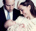 Принц Уильям с Кейт Мидллтон и сыном