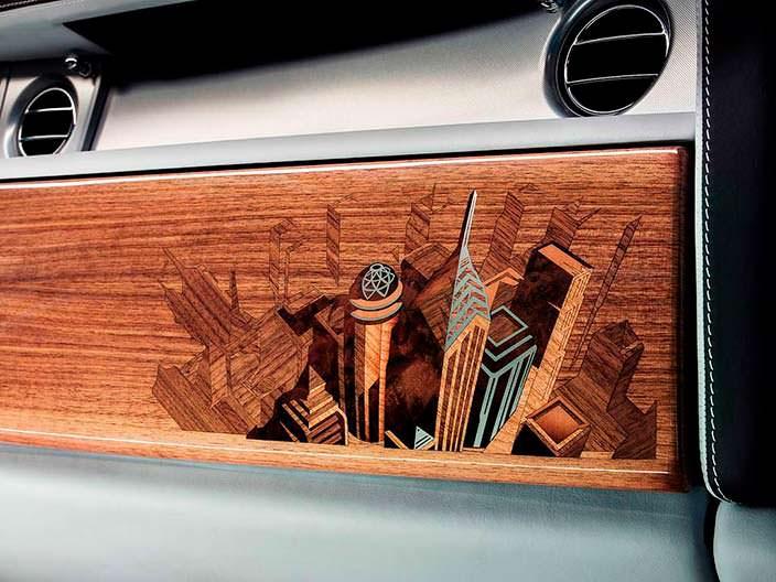 Фото | Rolls-Royce Phantom: отделка салона деревом