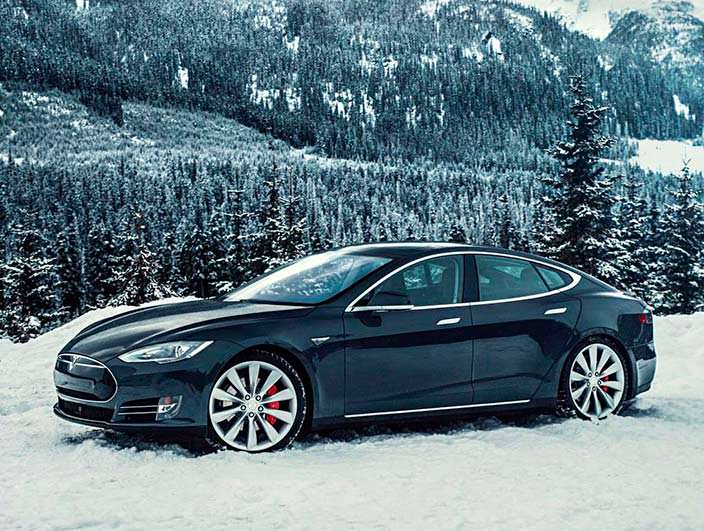 Фото | Чёрная Tesla Model S P85D