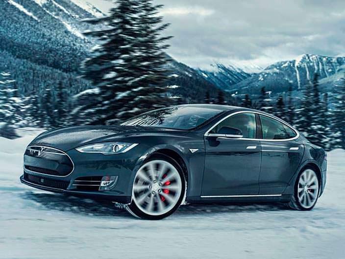Фото | Новый электроседан Tesla Model S P85D