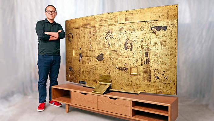 Samsung выпустила золотой 78-дюймовый телевизор