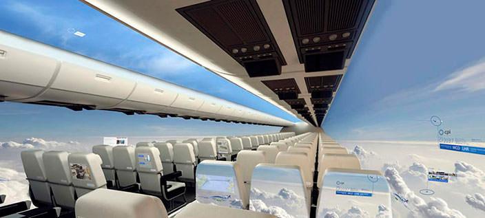 В ближайшем будущем в небо поднимутся самолеты без окон