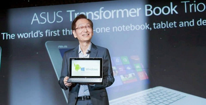 Исполнительный директор Asus с новым планшетом-трансформером