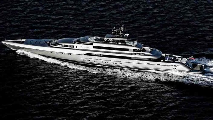Яхта длиной 70 метров Silver Fast продается | фото, цена