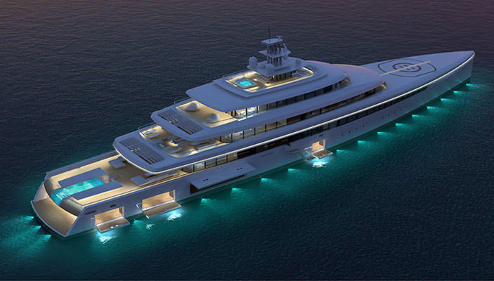 105-метровая мегаяхта Acquaintance от Vitruvius Yachts | фото