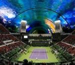 Проект подводного теннисного корта в Дубае от 8+8 Concept Studio