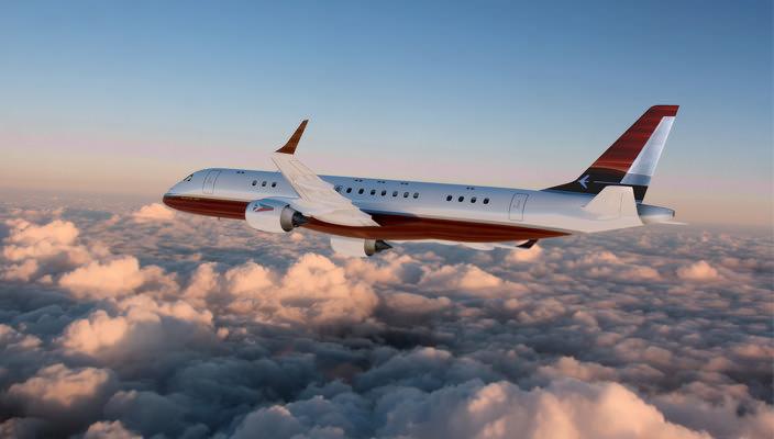 Элитный самолет на базе Embraer Lineage 1000 от SottoStudios