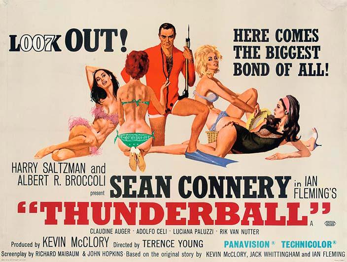 Постер «Шаровая молния» (Thunderball), 1965 год