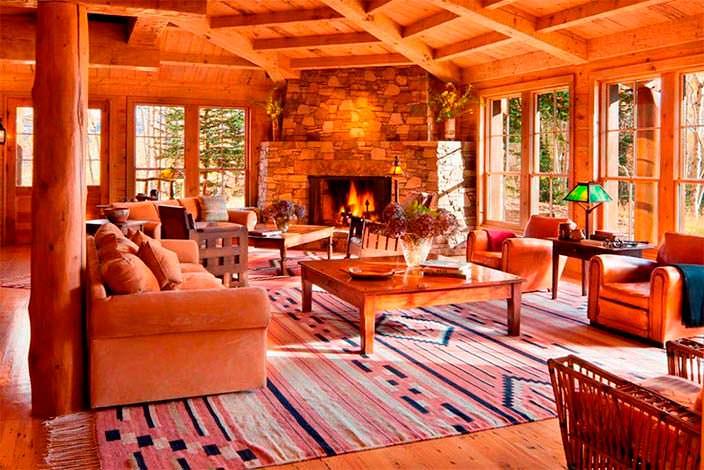 Деревенский дизайн интерьера дома