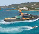 Яхта Time с дроном-такси от Henry Ward Design