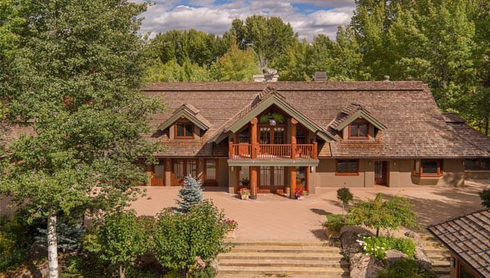 Дом Брюса Уиллиса в Айдахо, США