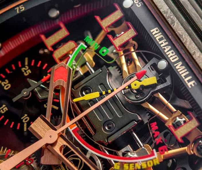 Часовой механизм Richard Mille RM 50-01 G-Sensor