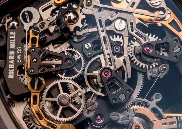 Самый сложный механизм часов Richard Mille RM 50-01 G-Sensor