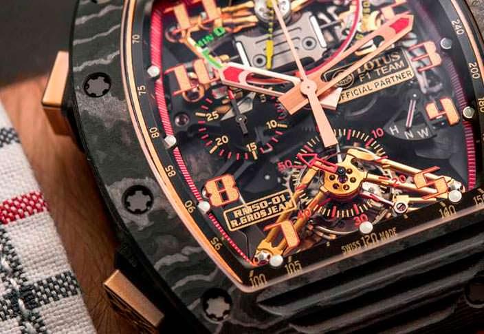 Часы Романа Грожана из Lotus F1 Team от Richard Mille