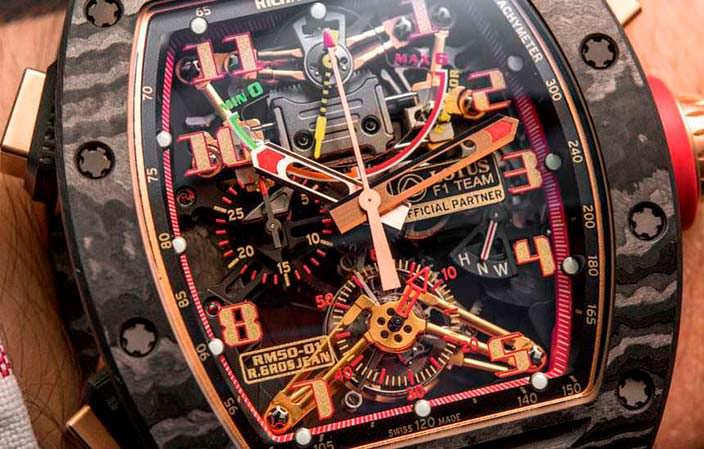 Сложный циферблат Richard Mille RM 50-01 G-Sensor