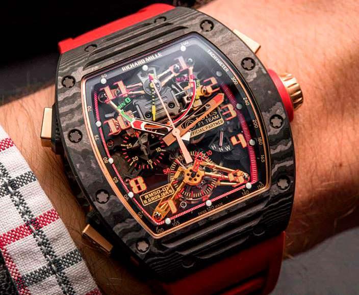Часы с прозрачной задней крышкой от Richard Mille