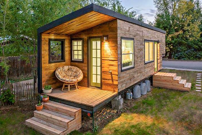 Маленький дом Мейси Миллера в Айдахо
