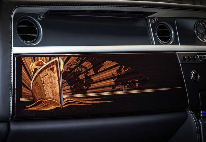 Декоративный шпон в салоне Rolls-Royce