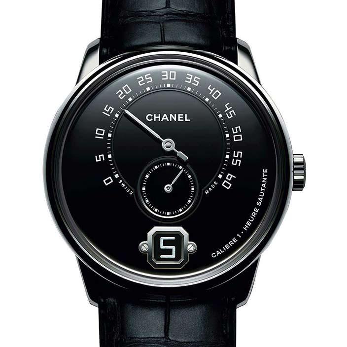 Мужские платиновые часы Chanel Monsieur