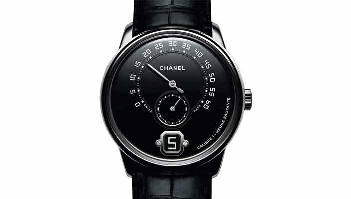 Платиновые мужские часы Chanel Monsieur | цена, инфо