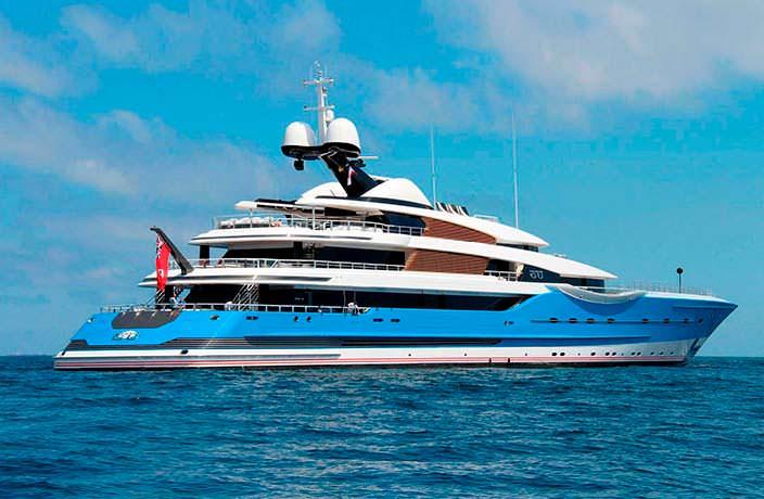 Яхта с вертолетной площадкой от Feadship