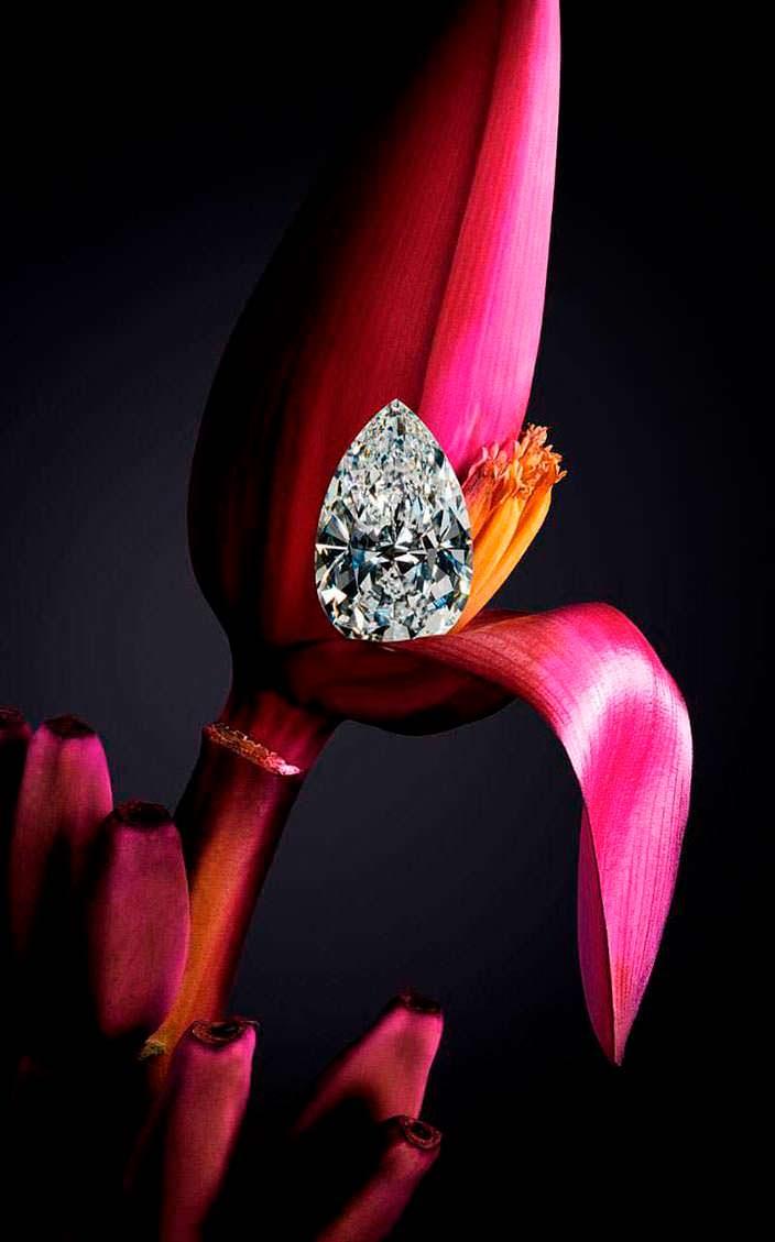 Алмаз грушевидной огранки Chopard весом 25 карат