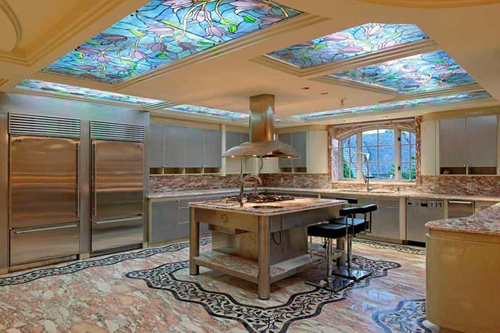 Фото | Мраморный интерьер кухни
