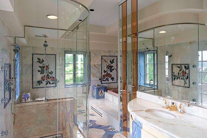 Фото | Шикарная ванная с мрамором