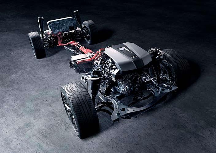 Шасси Lexus LS 500h