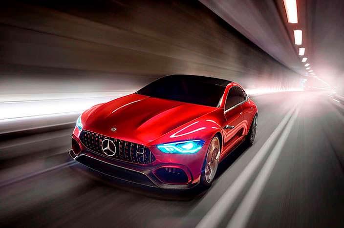 Четырехдверное купе Mercedes-AMG GT Concept