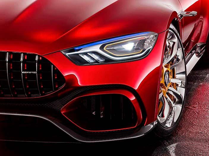 Светодиодные фары Mercedes-AMG GT Concept
