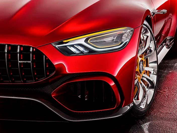Рисунок фар Mercedes-AMG GT Concept