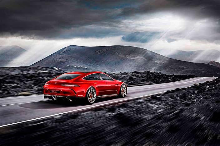 Четырехдверное купе Mercedes-AMG GT Concept 2017