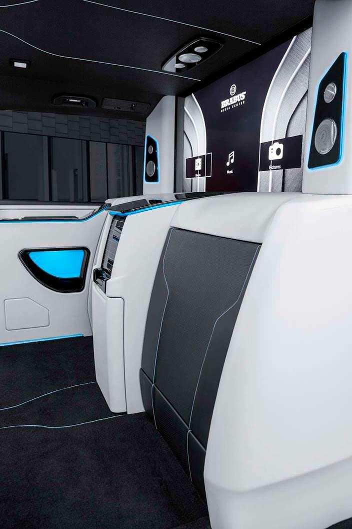 Кресла в сложенном виде в Mercedes-Benz V-Class