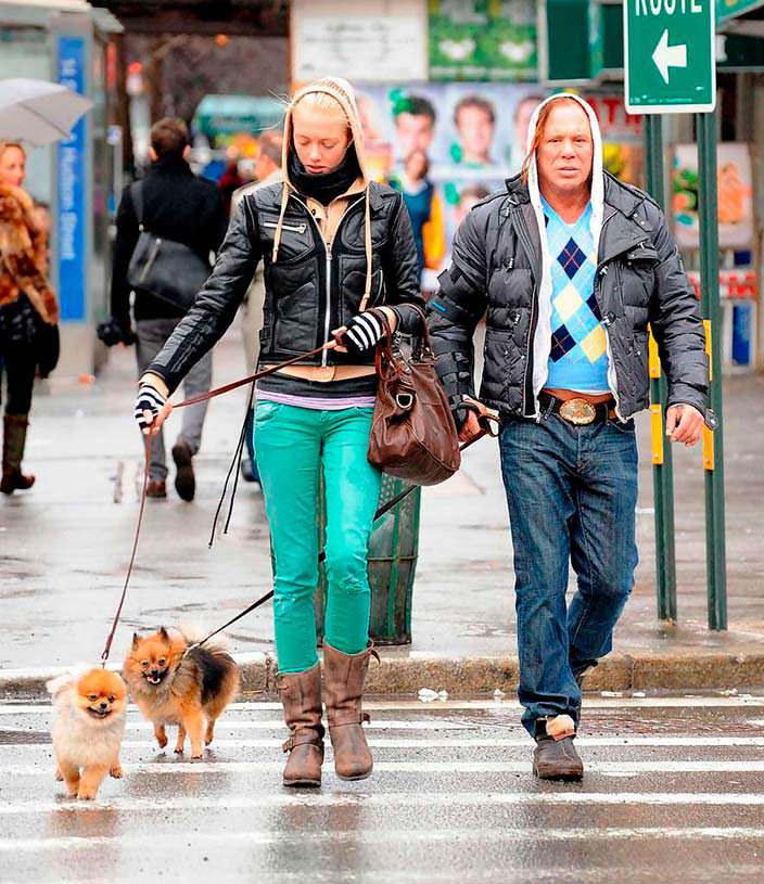 Фото | Микки Рурк и его собаки