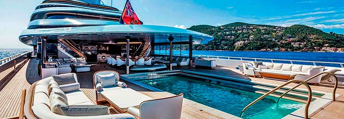 Основная палуба яхты Oceanco Jubilee