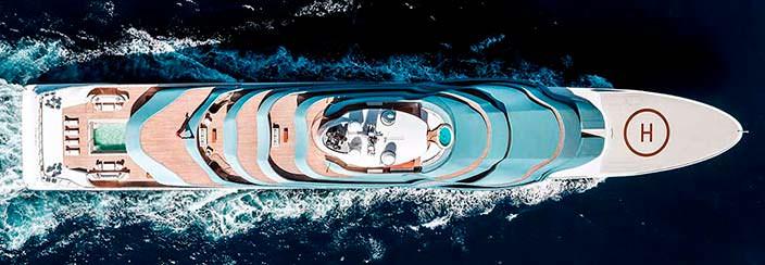 Голландская яхта Oceanco Jubilee. Длина 110 метров