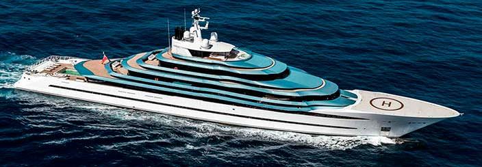 Яхта Oceanco Jubilee. Длина 110 метров