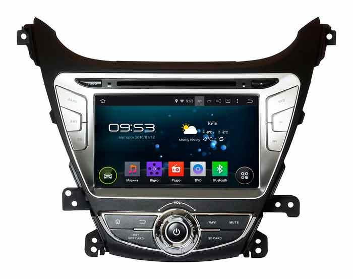 Штатное головное устройство на Андроид для Hyundai Elantra