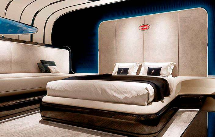 Спальня катера Bugatti Niniette 66