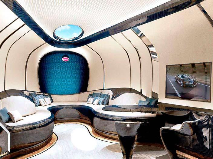Салон с баром в Bugatti Niniette 66