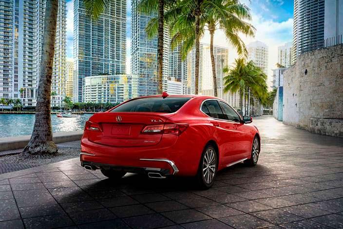 Фото | Красный седан Acura TLX рестайлинг 2018 года