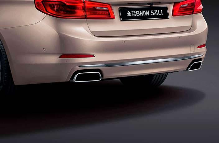 Дизайн задней части кузова БМВ 5-Серии Li 2018 года