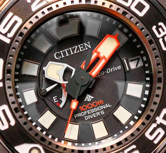 Часы для водолаза-подводника Citizen Eco-Drive Promaster