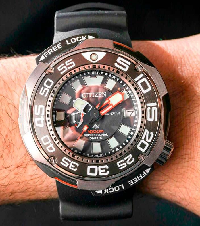 Профессиональные дайверские часы Citizen до 1000 м