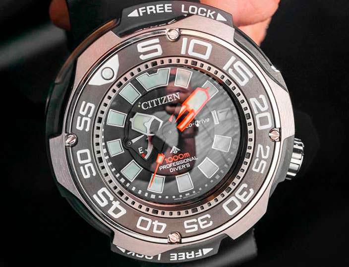 Титановые дайверские часы Citizen Eco-Drive Promsater 1000m
