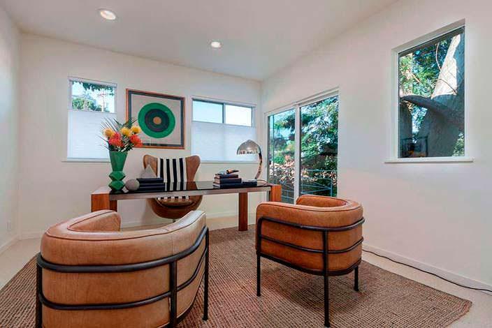 Фото | Дизайн рабочего кабинета в доме Джареда Лето